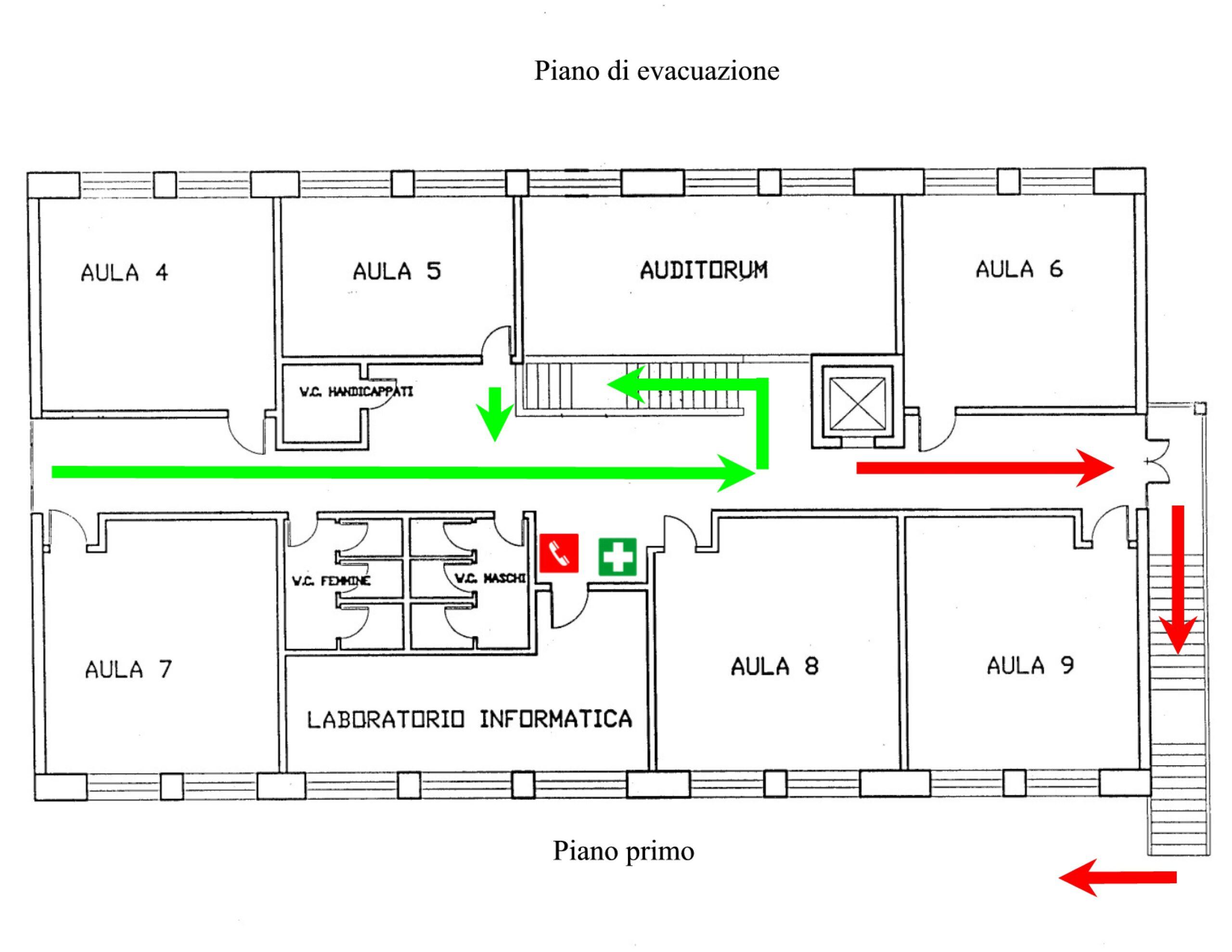 Piano di emergenza con planimetrie ecloga italia s p a for Planimetrie piano piano gratuito