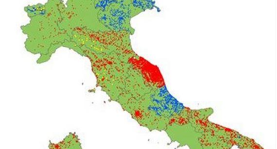 Mappa Interattiva della presenza di Amianto in Italia