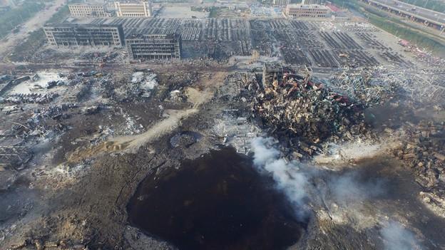Danni ambientali e distruzione a Tianjin