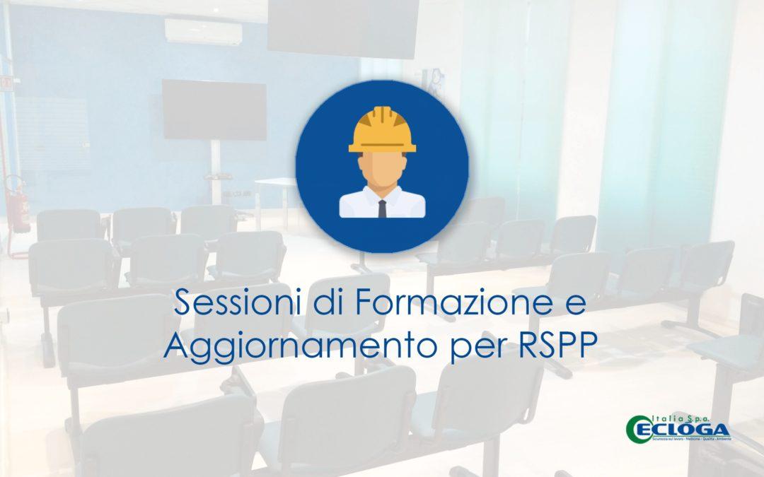 Formazione ed aggiornamento per Datori di lavoro RSPP - Marzo Aprile 2019