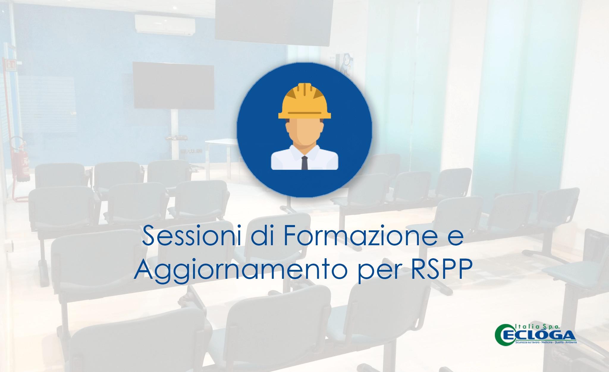Formazione ed aggiornamento per Datori di lavoro RSPP Marzo Aprile 2019