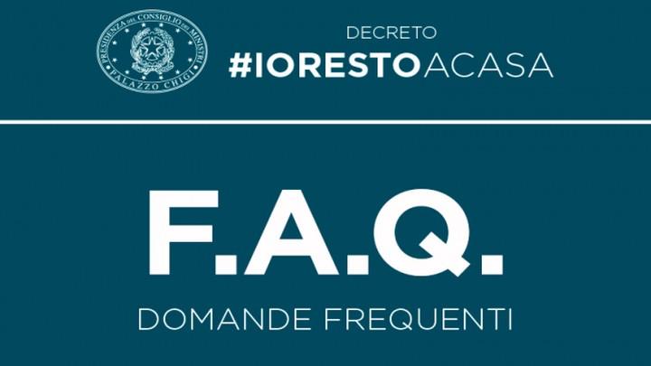 Chiarimenti e FAQ sul Decreto #IoRestoaCasa