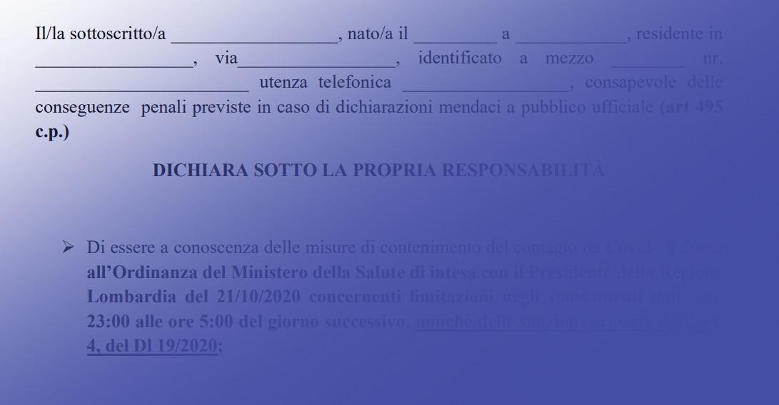 COVID-19: coprifuoco e ordinanza 623 Regione Lombardia